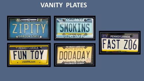 Vanity Plate Sponsors