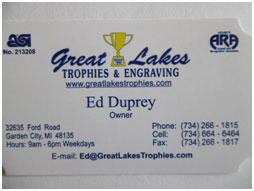 Great Lakes Trophies and Engraving