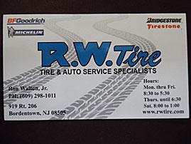 R. W. Tire