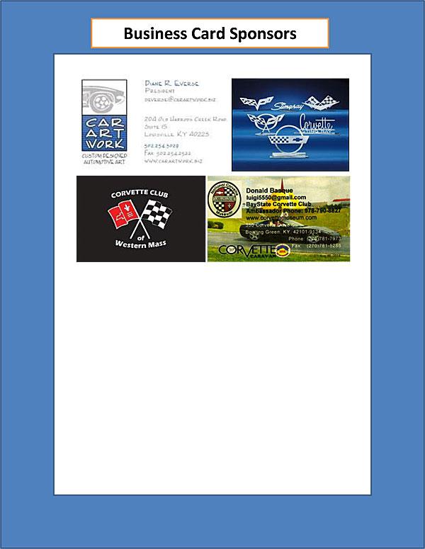 Business Card Sponsors