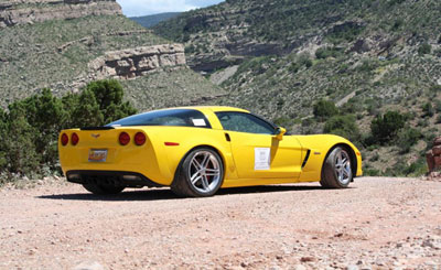 Holt Davis and lead Z06 during 2014 Caravan near Cloudcroft, NM