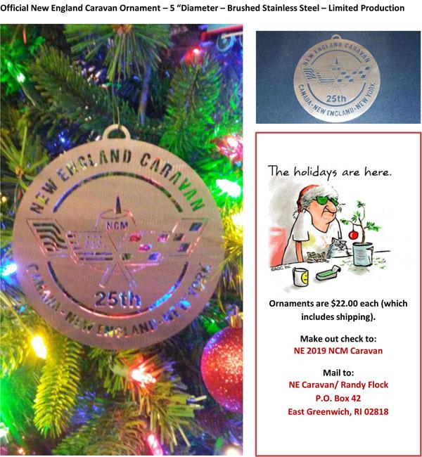 Official New England Caravan Ornament