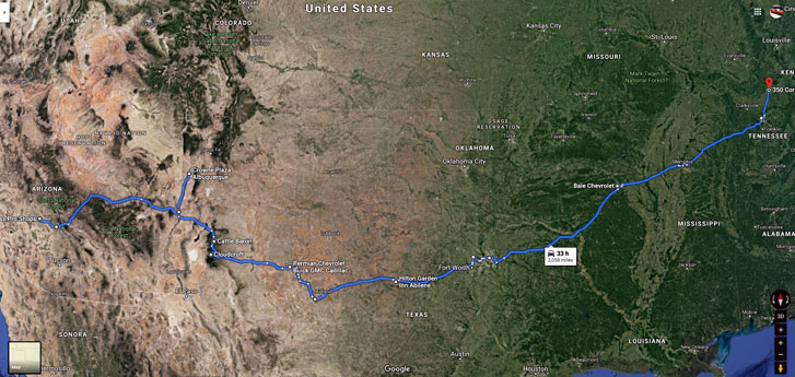 Arizona and New Mexico Route